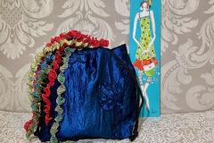 Beutel-Taft-blau